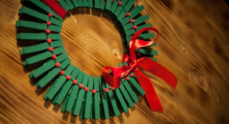 Hacer coronas navideñas DIY con niños blog Querolets 6 6